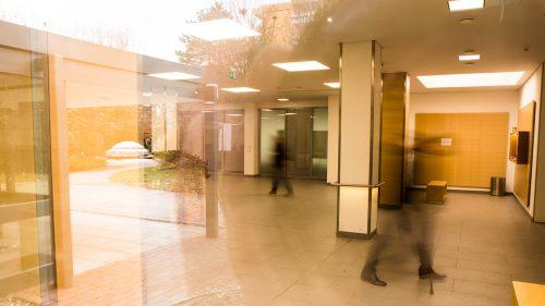 Das Foyer der WKM der Stiftung Pfennigparade