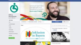 Die Facebookseite der Stiftung Pfennigparade