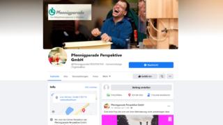 Facebook-Seite der Pfennigparade Perspektive GmbH