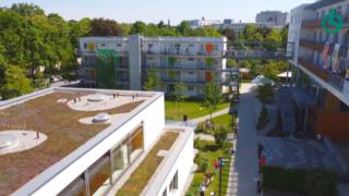 Drohnenansicht Gelände Stiftung Pfennigparade