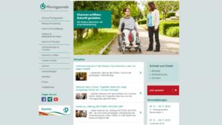 Die Internetseite der Stiftung Pfennigparade