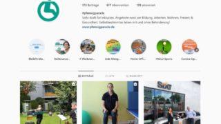 Startseite der Stiftung Pfennigparade auf Instagram